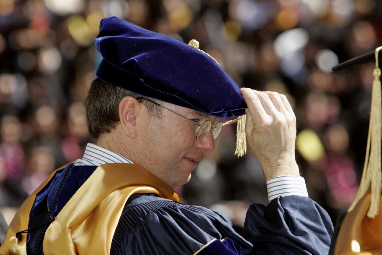 Google CEO Eric Schmidt Gives Commencement Speech At Berkeley
