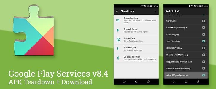 Google Play Services 8.4 teardown