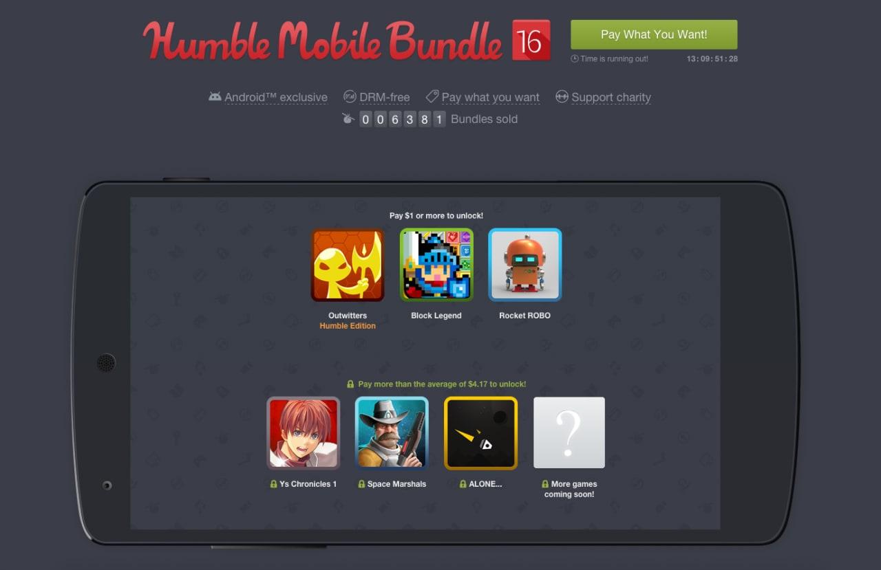 Disponibile l'Humble Mobile Bundle 16, con Space Marshal, ALONE e molto altro!