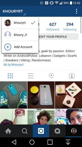 Instagram multi account - 1