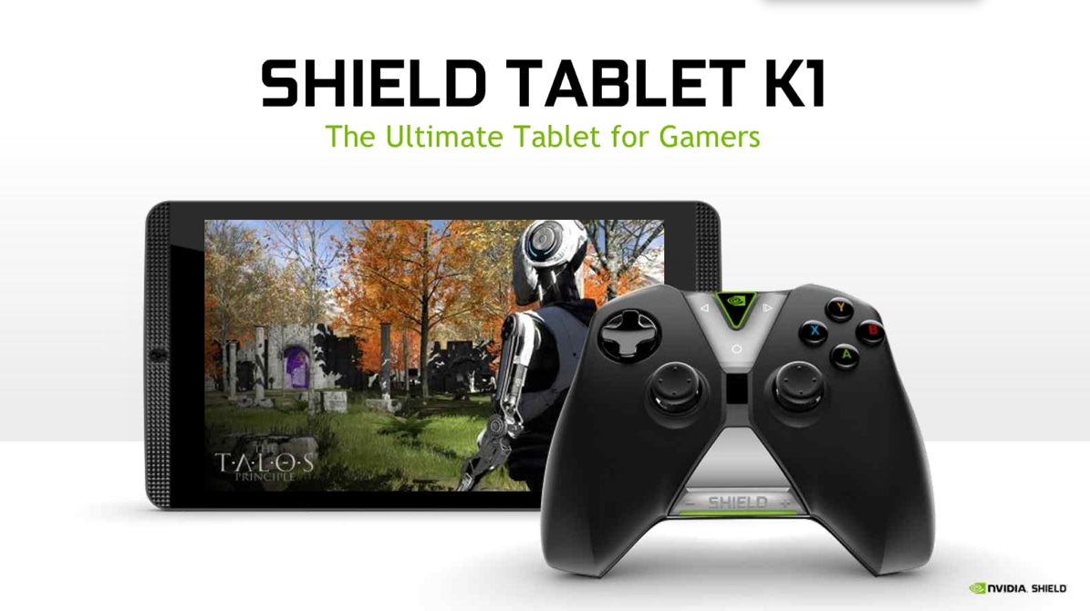 NVIDIA Shield Tablet K1 ufficiale: tutta la potenza del Tegra K1 a