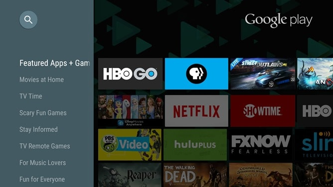 Play Store Android TV – 1