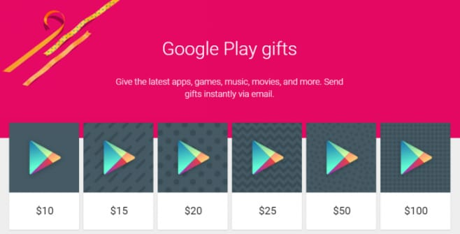 Regala Google Play
