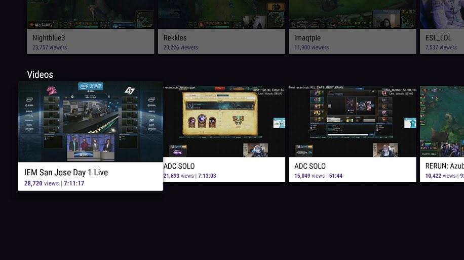Twitch Android TV 3