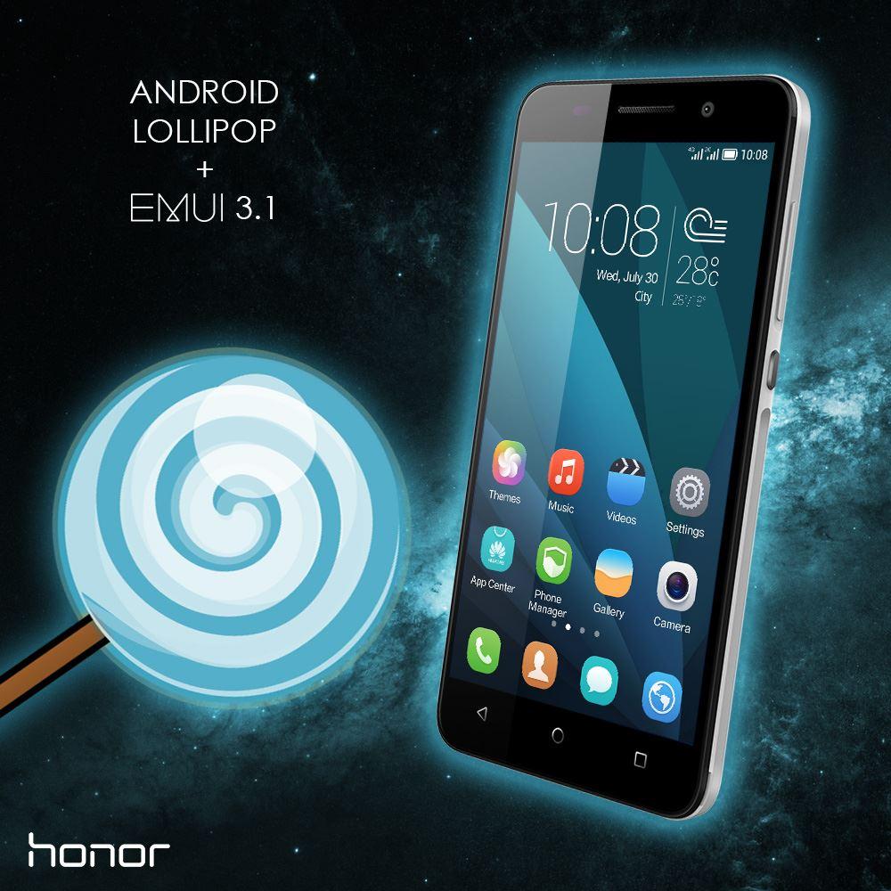 Honor 4X si aggiorna ad Android 5.1 Lollipop