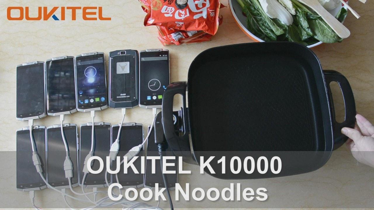 Volete uno smartphone da 10.000 mAh per cucinare noodles? Ci pensa OUKITEL! (video)