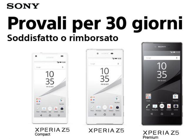 Sony vi lascia provare un Xperia Z5 per 30 giorni