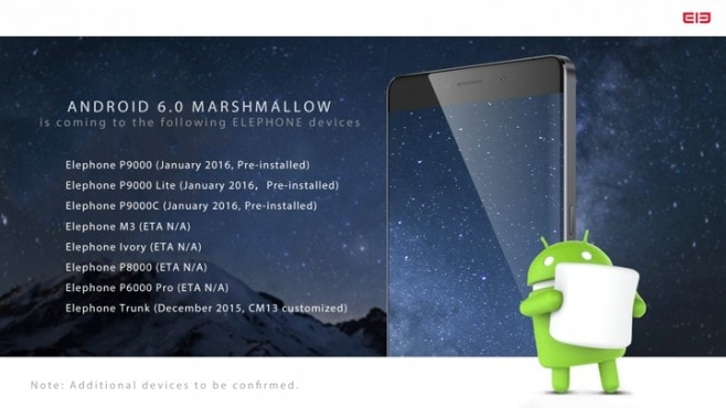 Android 6.0 Marshmallow Elephone