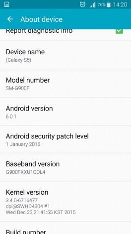 Android Marshmallow beta Galaxy S5_6