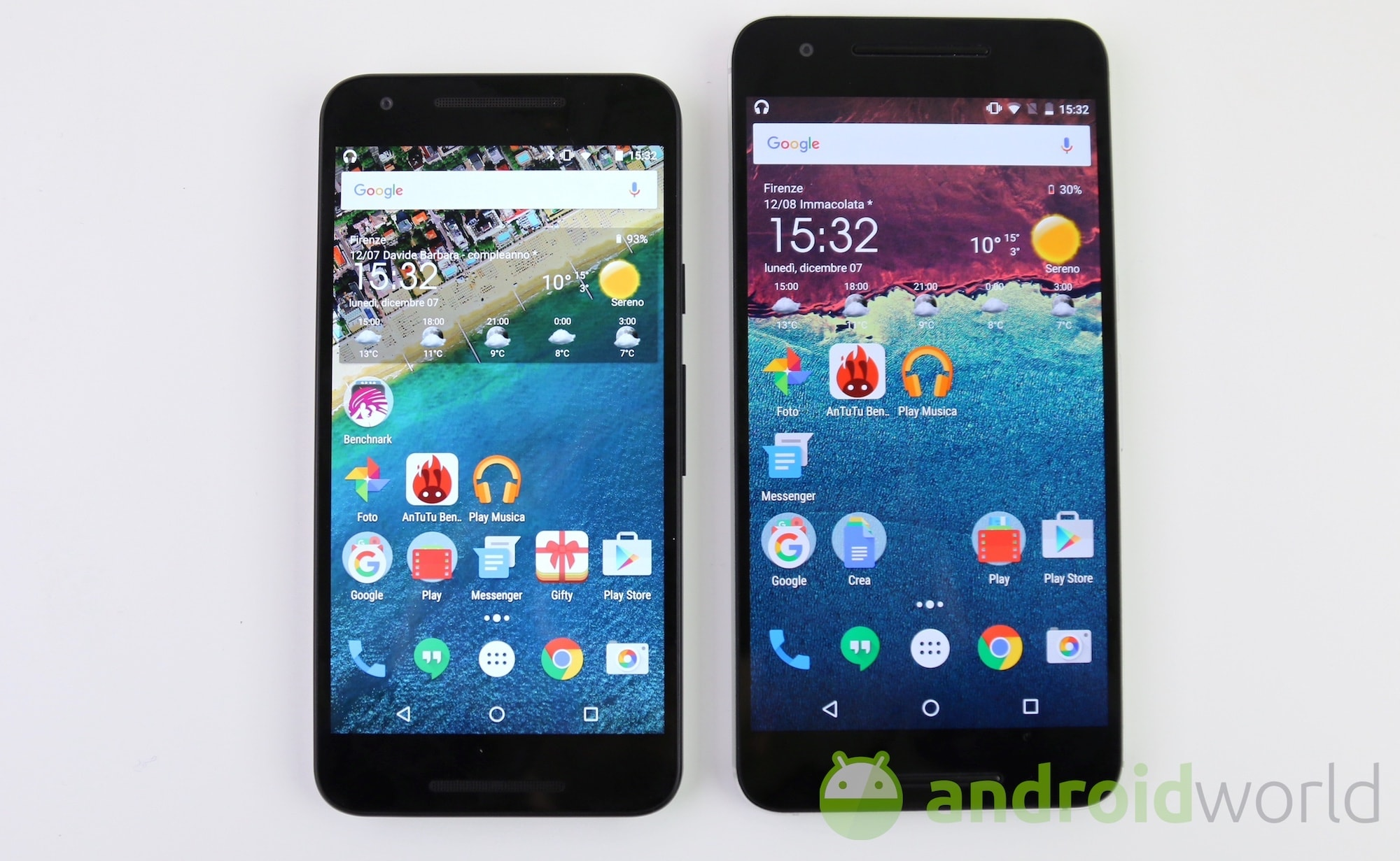Lg Nexus 5x Vs Huawei Nexus 6p Il Confronto Foto E Video