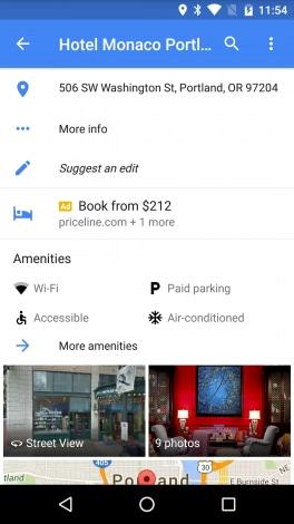 Google Maps - servizi hotel - 1