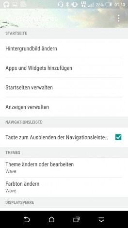HTC One A9 aggiornamento nav bar - 1