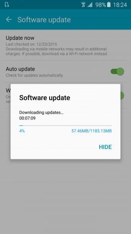 Marshmallow Galaxy S6 screenshot - 1
