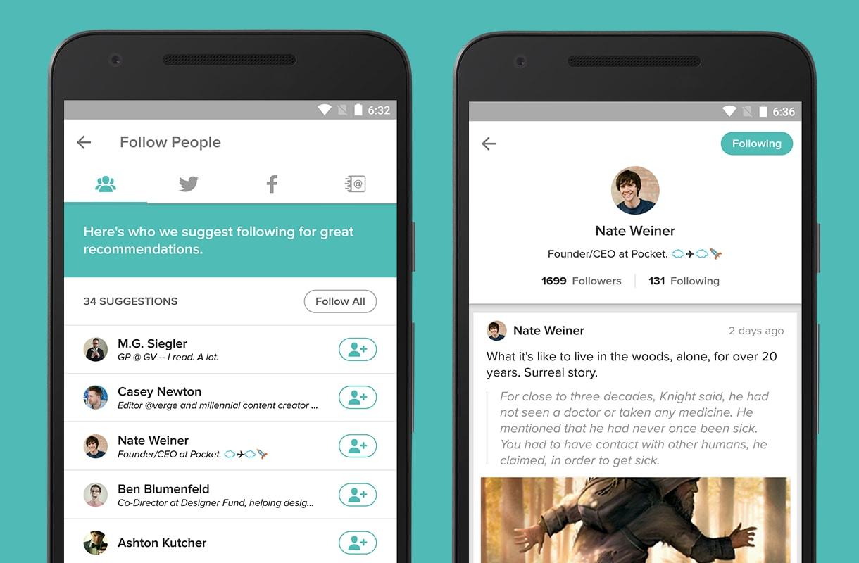 Pocket 6.1.1 diventa un po' social e punta sulle raccomandazioni