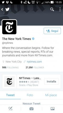 Twitter suggerisce app sul profilo - 1