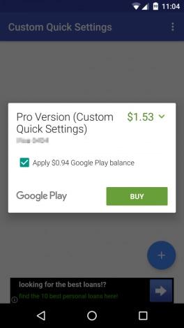 pagamento google play credito
