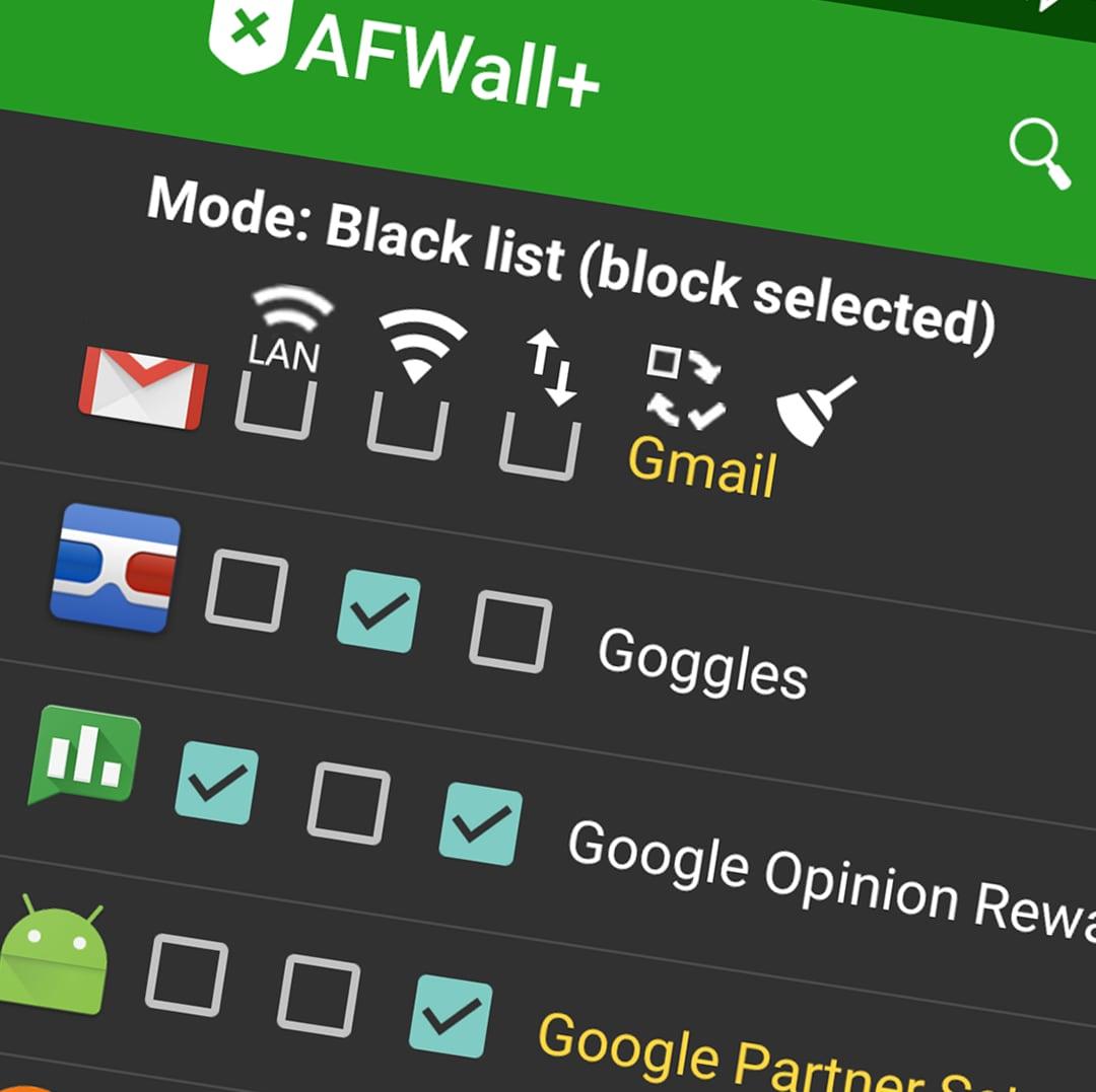 Controllate le connessioni delle vostre app con AFWall+ (foto)