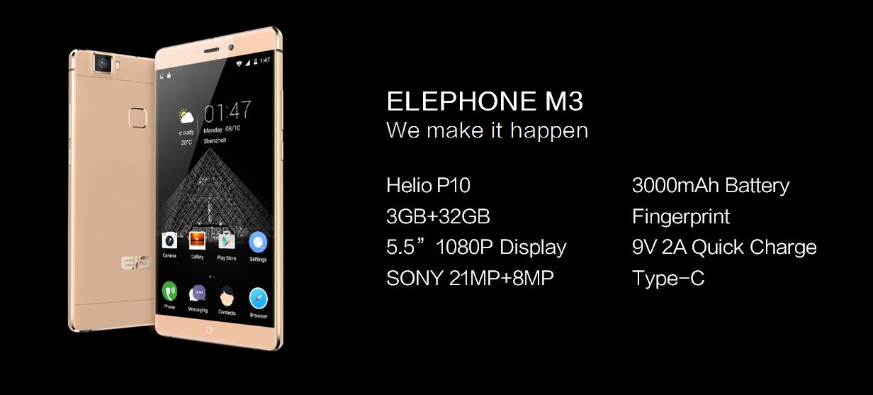 Elephone M3 è un phablet medio gamma molto interessante