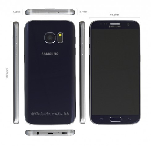 Galaxy S7 render CAD - 5