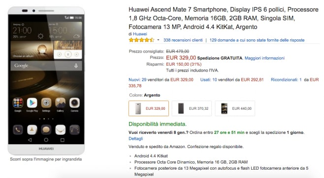 Huawei Ascend Mate 7 Amazon