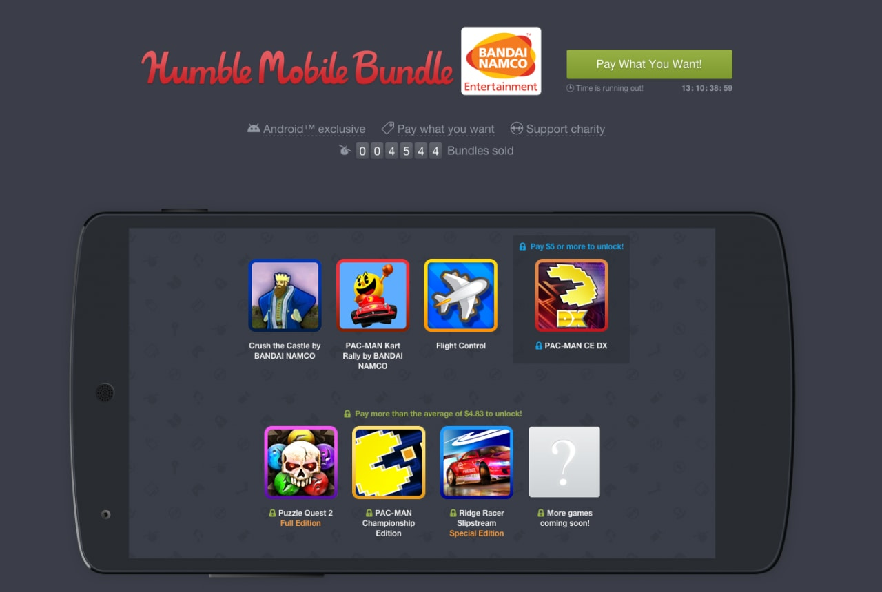Humble Mobile Bundle Bandai Namco