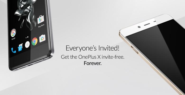 OnePlus X senza invito
