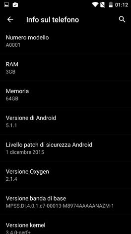 OxygenOS 2.1.4 su OnePlus One - 1