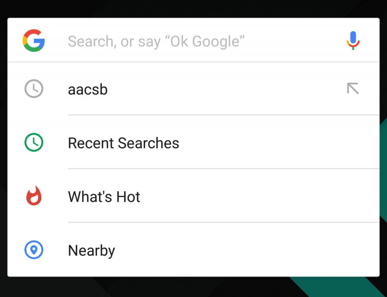 Ricerca Google cronologia trend e vicinanze