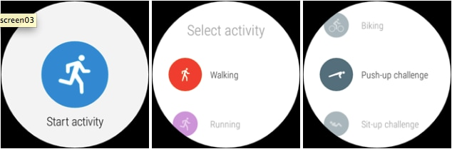 Google Fit - Android Wear -