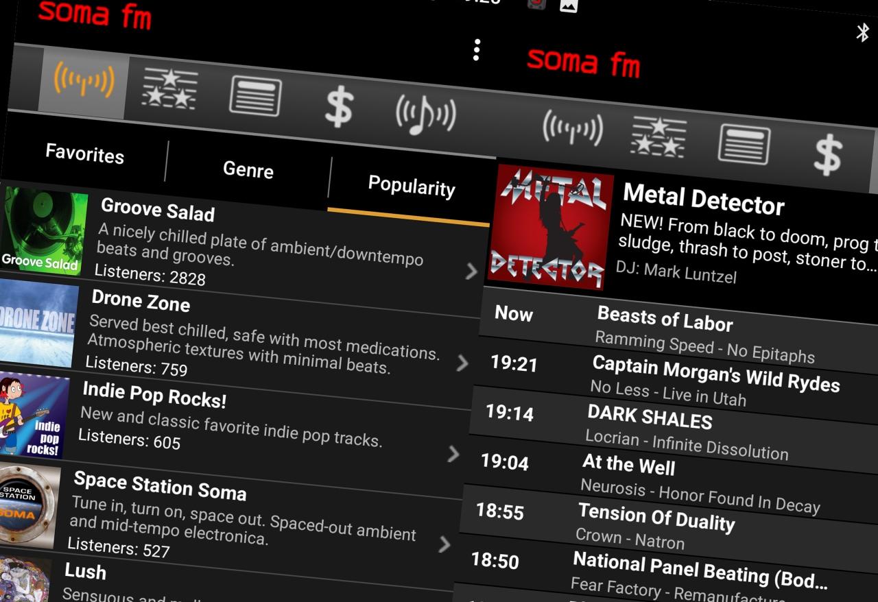 SomaFM, l'app per lo streaming di musica indipendente, diventa gratuita sul Play Store (foto)