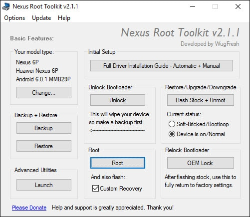 Nexus Root Toolkit versione 2.1.1