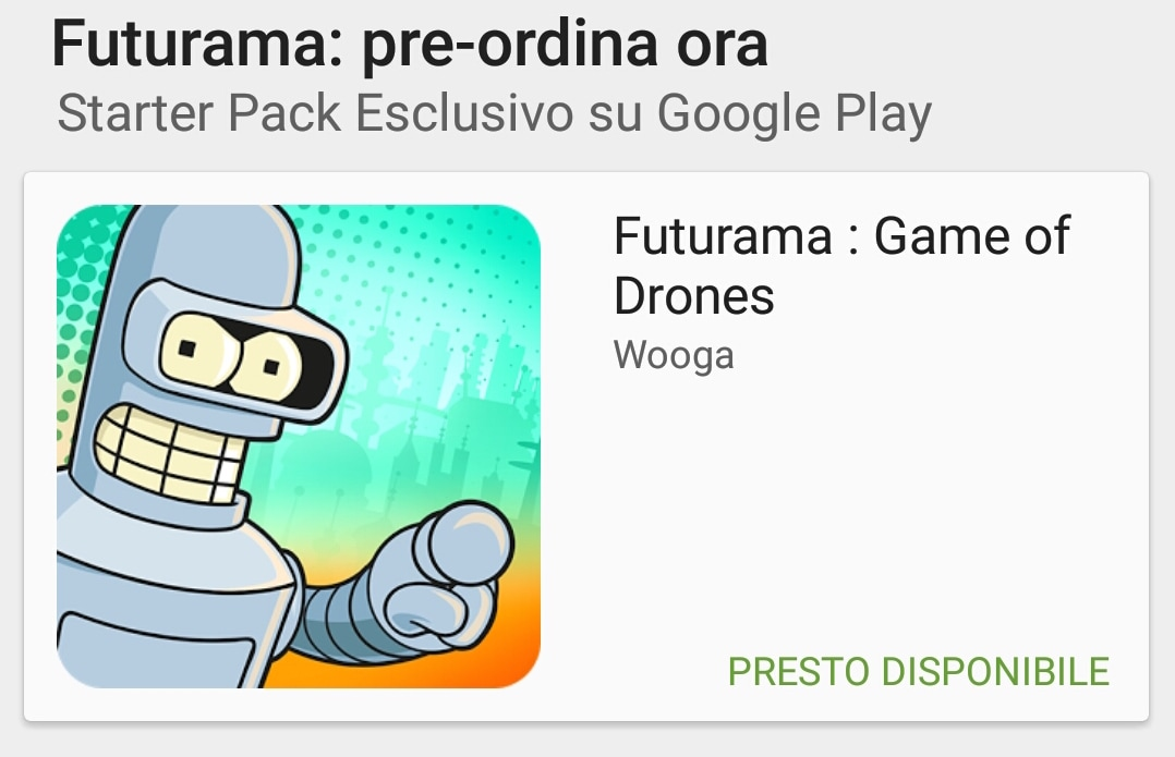 Futurama Game of Drones Pre-ordine