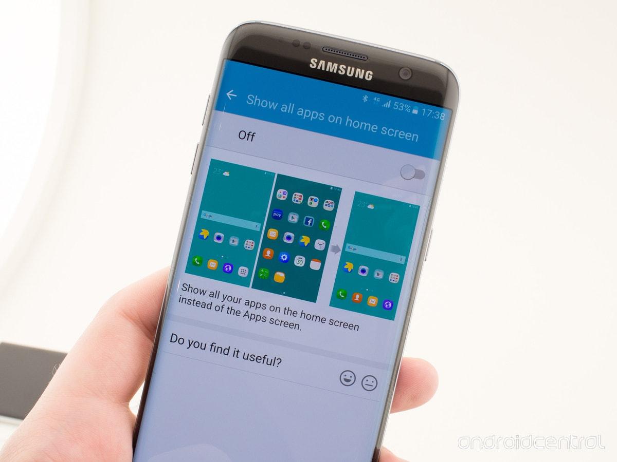 Samsung Galaxy S7 vi permette di sperimentare la vita senza app drawer