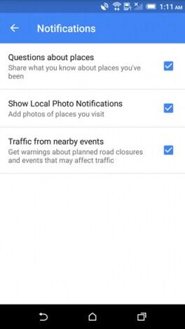 Google Maps 9.21 - notifiche guide locali - 1