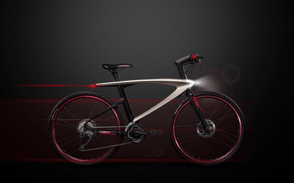 Una bicicletta con Android e che spara raggi laser… serve aggiungere altro?