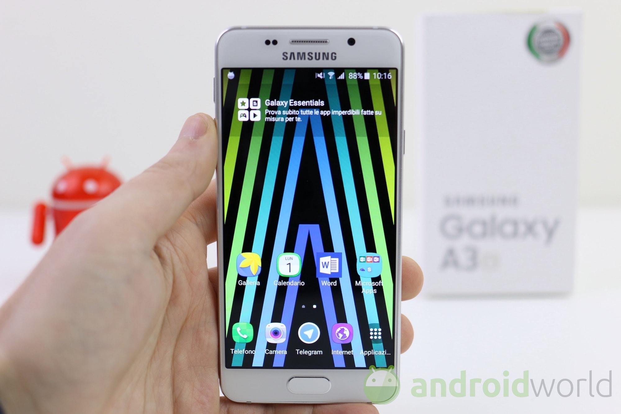 Samsung Galaxy A3 2016 si aggiorna a Marshmallow anche in Italia