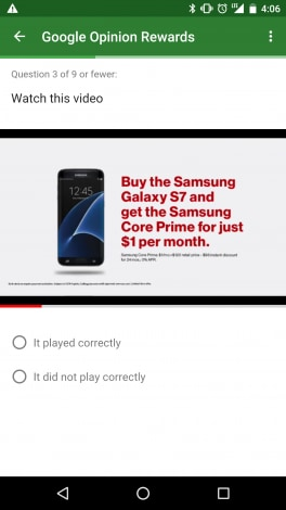 Samsung Galaxy S7 - Google Opinion Rewards