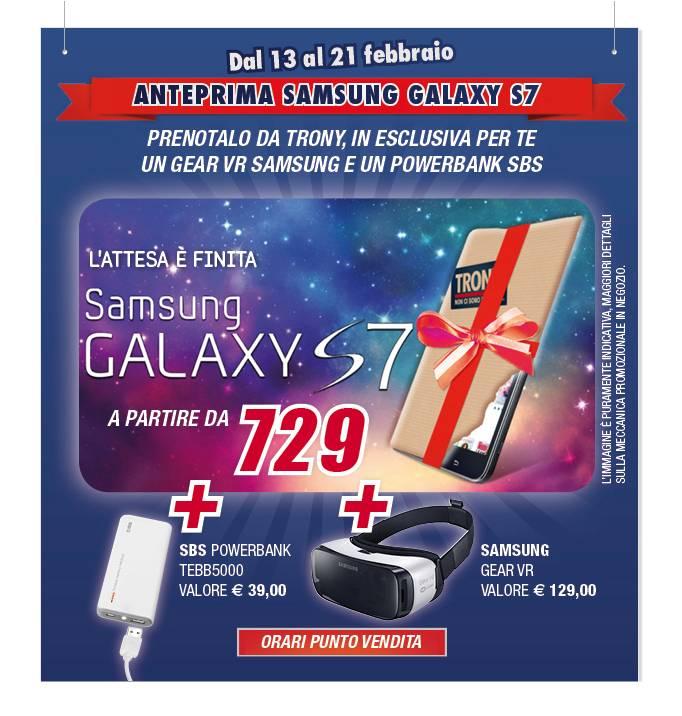 """Trony smentisce il pre-ordine di Galaxy S7: """"è inesistente"""""""