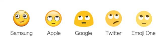 Samsung emoji - occhi all'insù