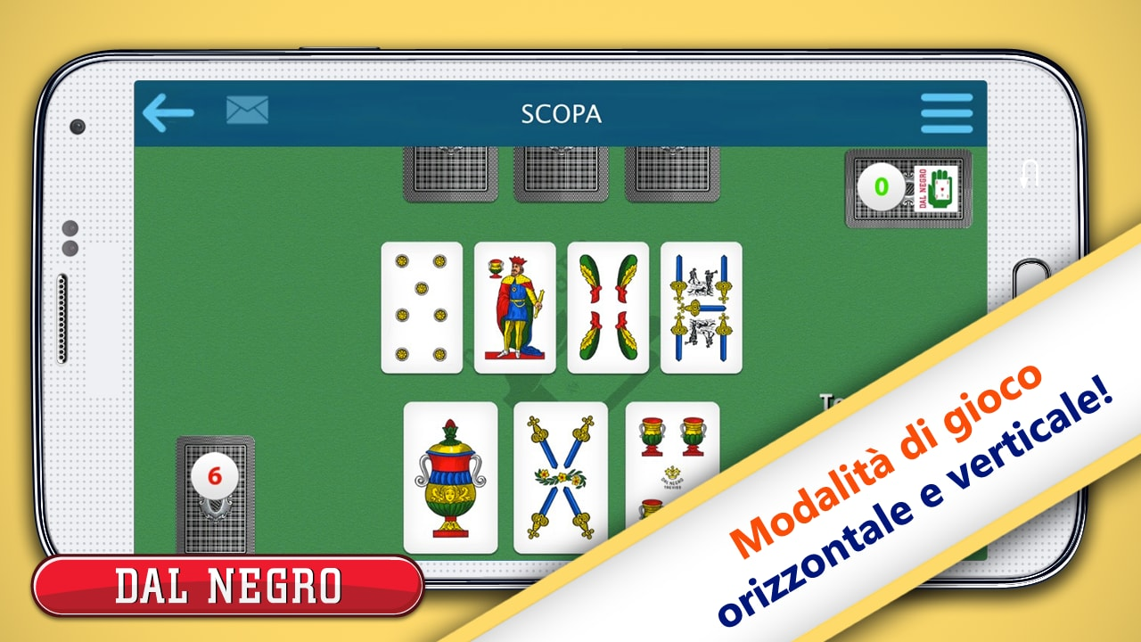 Scopa Dal Negro e altri giochi di carte Dal Negro sbarcano su Android (foto)