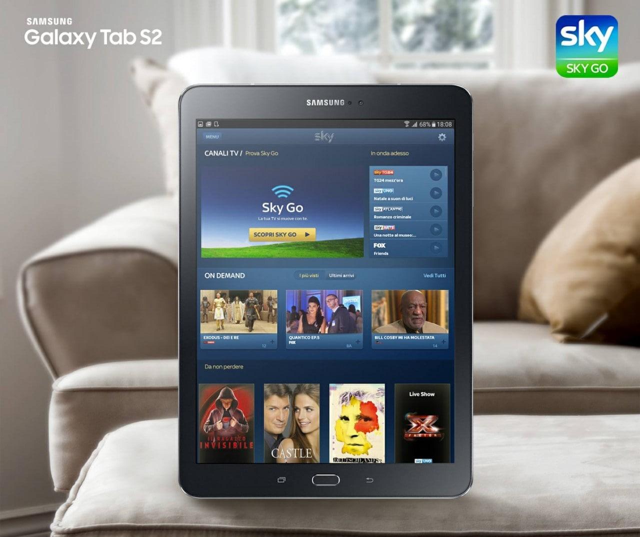 SkyGo Galaxy Tab S2