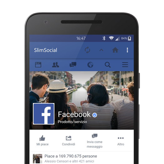 Sfogliare Facebook senza appesantire lo smartphone: SlimSocial (foto)