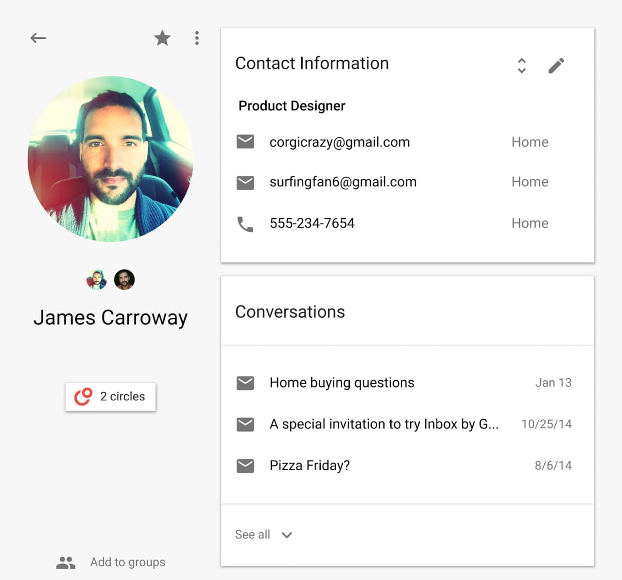 Con le nuove People API gli sviluppatori potranno accedere ancora meglio ai vostri contatti