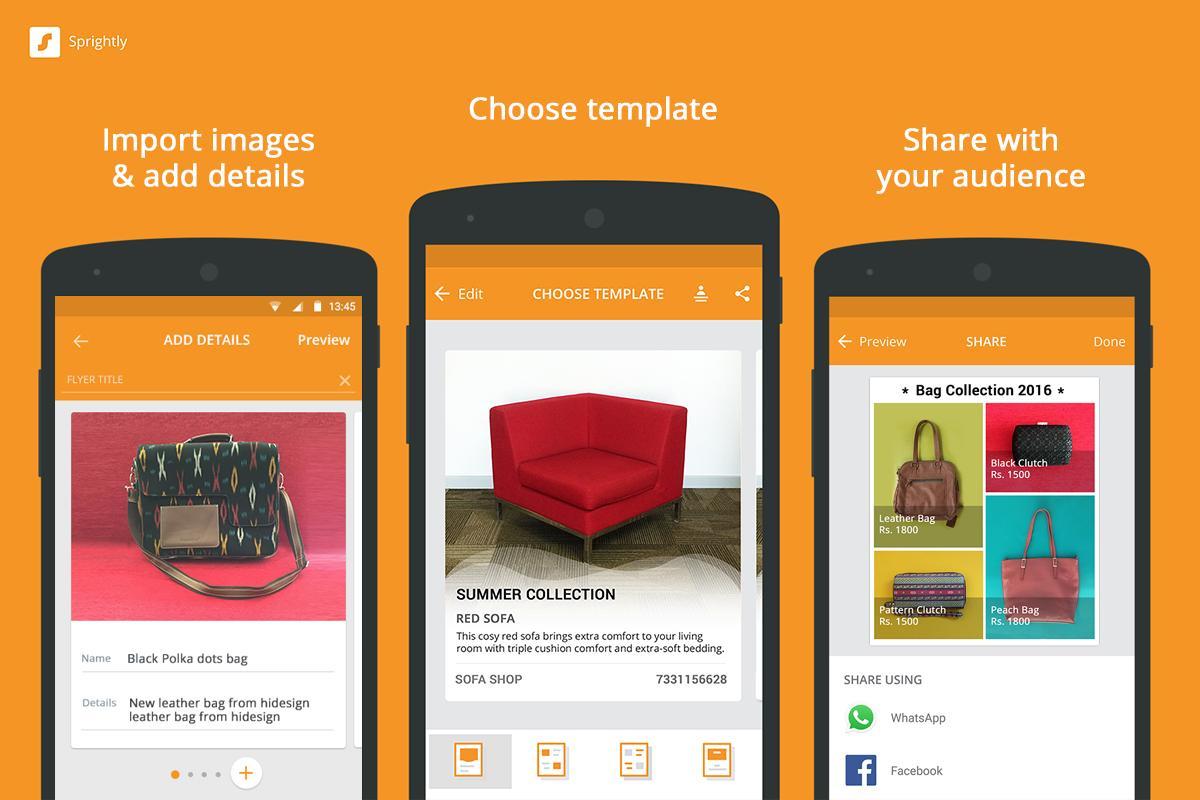 Microsoft presenta Sprightly, l'app per creare volantini e cataloghi per la vostra attività (foto)