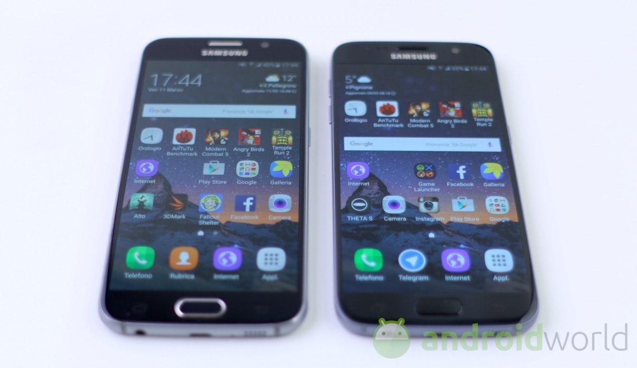 Confronto Samsung Galaxy S6 - S7 - 2