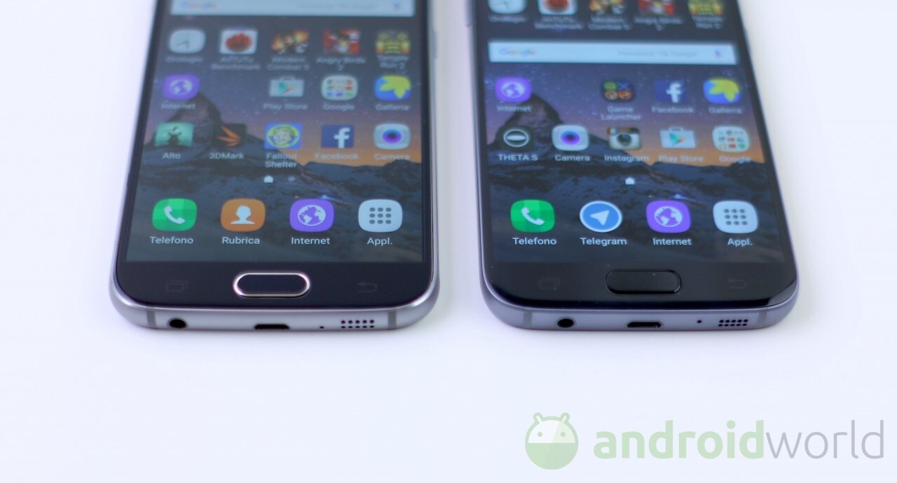 Confronto Samsung Galaxy S6 - S7 - 3