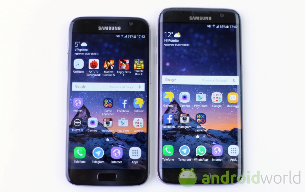 Confronto Samsung Galaxy S7 - S7 edge - 1