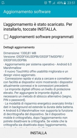 Galaxy S6 TIM marshmallow