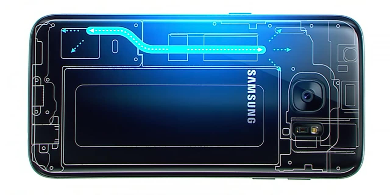 Galaxy S7 liquid cooling heat pipe