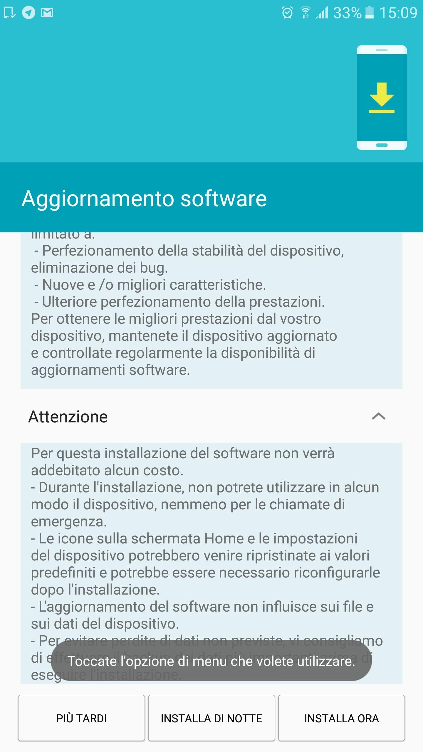 Galaxy s7 edge aggiornamento sicurezza marzo – 1